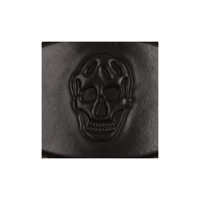 ALEXANDER MCQUEEN MEN LEATHER BELT 3D SKULL BUCKLE