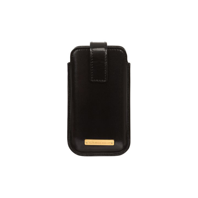 ALEXANDER MCQUEEN MEN GLOW CASE WEB LEATHER PHONE