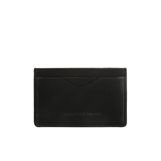 ALEXANDER MCQUEEN MEN GLOW CARD HOLDER WEB LEATHER