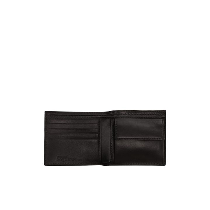 ALEXANDER MCQUEEN MEN LEATHER WALLET COVERED STUDDED