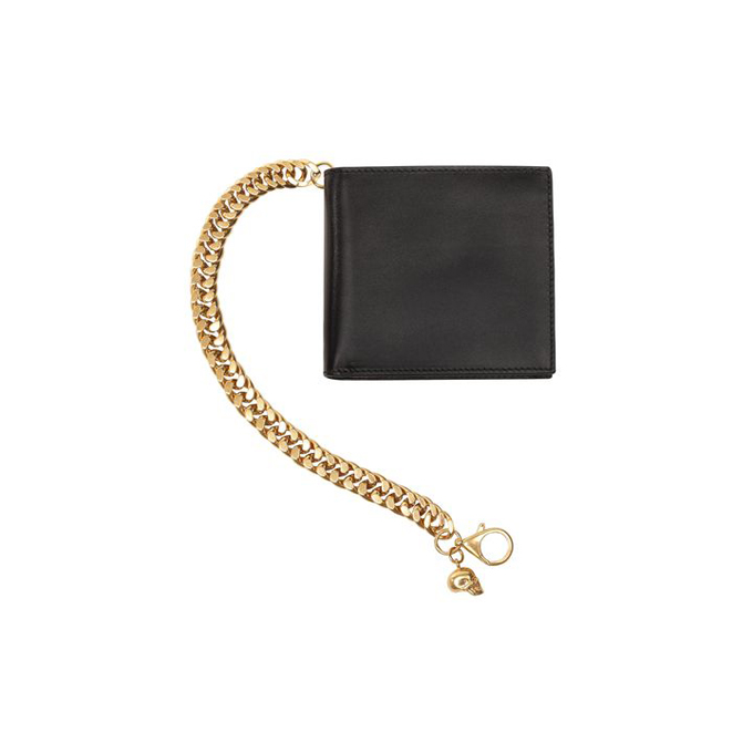 ALEXANDER MCQUEEN MEN SKULL WALLET CHAIN