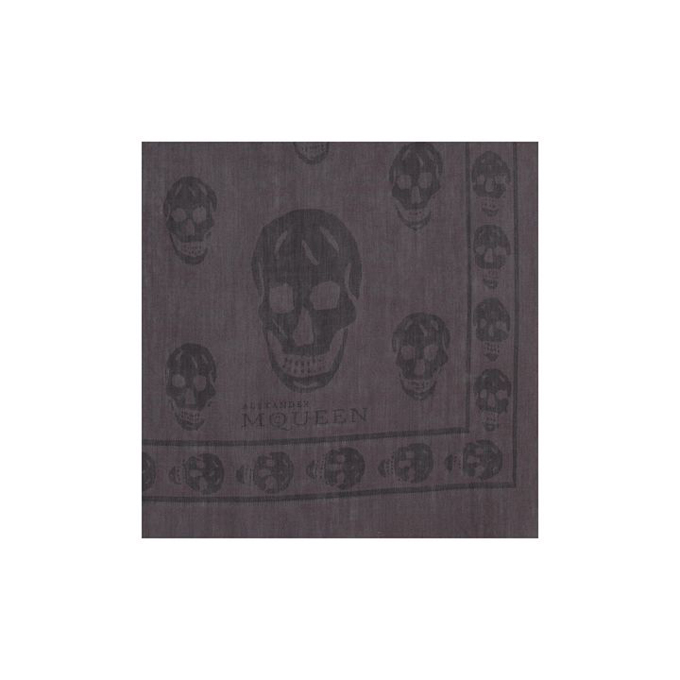 ALEXANDER MCQUEEN MEN TWO-TONE SHAWL SKULL