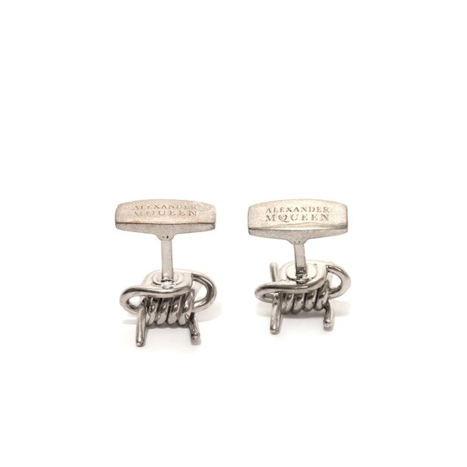 ALEXANDER MCQUEEN MEN BARBED CUFFLINKS WIRE