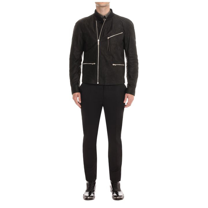 ALEXANDER MCQUEEN MEN LEATHER JACKET