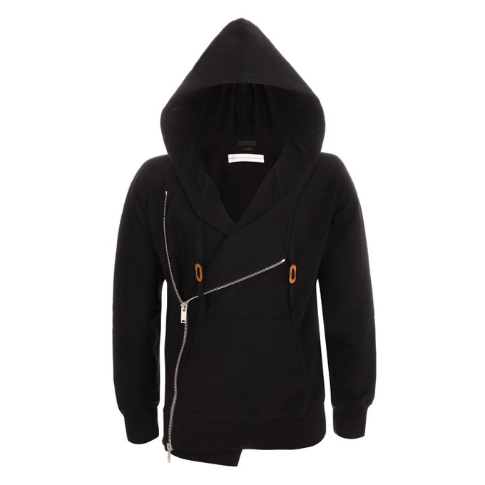 ALEXANDER MCQUEEN MEN ZIP-UP SWEATSHIRT HOODED