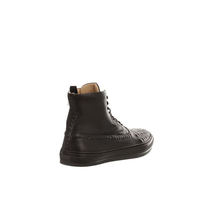 ALEXANDER MCQUEEN MEN LEATHER HIGH-TOPS VACUUM STUDDED