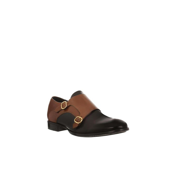 ALEXANDER MCQUEEN MEN ALBERT SHOE BI-COLOR DOUBLE BUCKLE