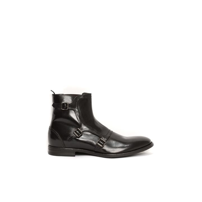 ALEXANDER MCQUEEN MEN GABLE BOOT 3 BUCKLE
