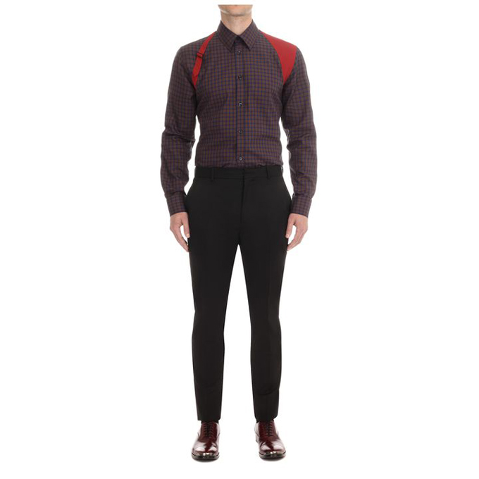 ALEXANDER MCQUEEN MEN CONTRASTING SHIRT HARNESS
