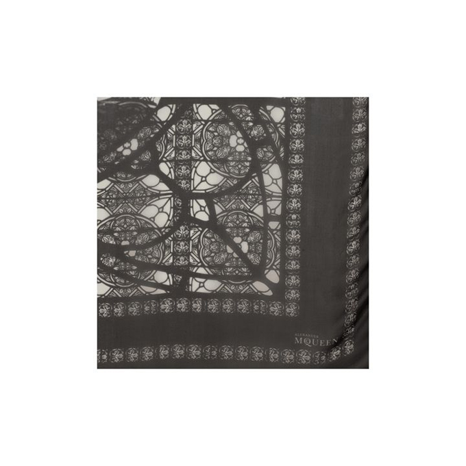 ALEXANDER MCQUEEN STAINED SCARF GLASS RHAPSODY SKULL