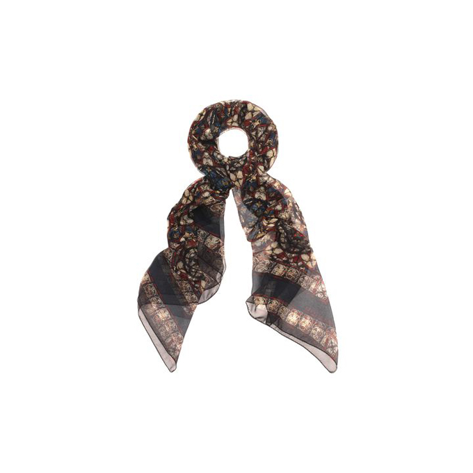 ALEXANDER MCQUEEN STAINED SCARF GLASS SILK