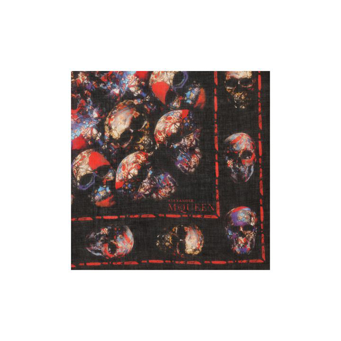 ALEXANDER MCQUEEN STAINED SCARF GLASS CATACOMB SKULL