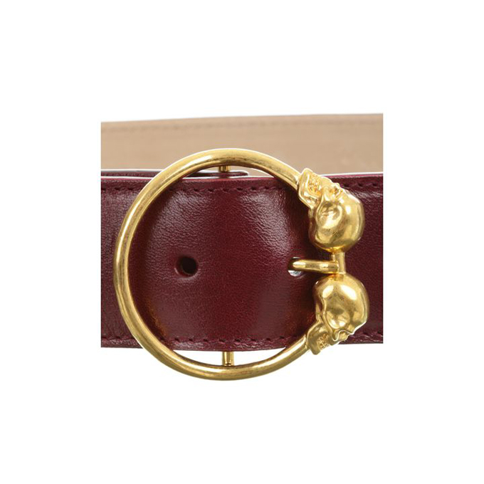 ALEXANDER MCQUEEN WOMEN DOUBLE BELT SKULL BUCKLE