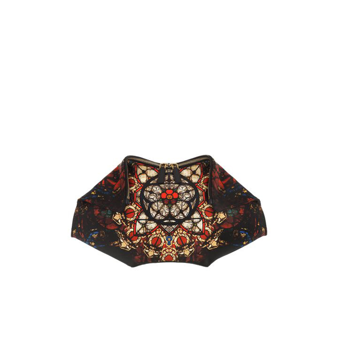 ALEXANDER MCQUEEN WOMEN BLEEDING CLUTCH STAINED GLASS PRINT DE MANTA