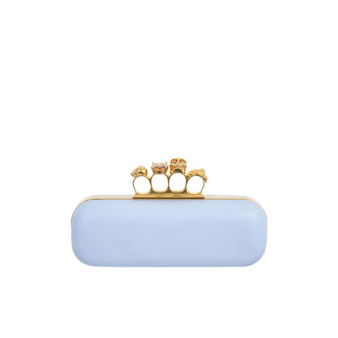 ALEXANDER MCQUEEN WOMEN LEATHER CLUTCH KNUCKLEBOX