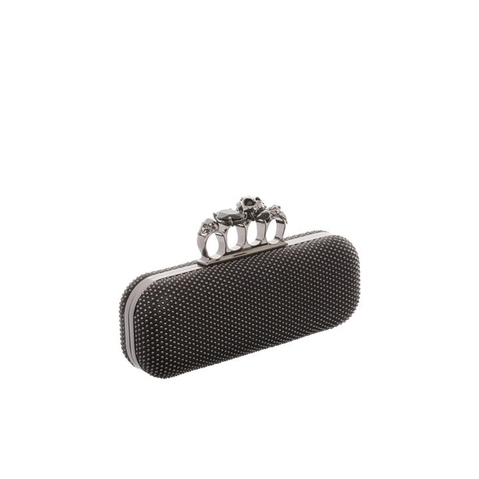ALEXANDER MCQUEEN WOMEN STUDDED CLUTCH KNUCKLEBOX