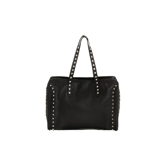 ALEXANDER MCQUEEN WOMEN STUD BAG LINED SKULL PADLOCK TOP HANDLE