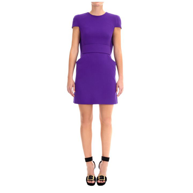 ALEXANDER MCQUEEN WOMEN CAPED MINI-DRESS