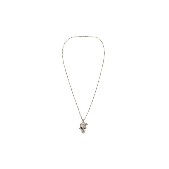 ALEXANDER MCQUEEN WOMEN CRYSTAL PENDANT BEE AND SKULL COCKTAIL