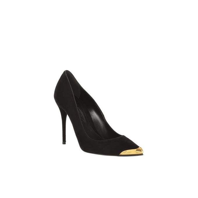 ALEXANDER MCQUEEN WOMEN TOE-CAP POINTY STILETTO PUMP