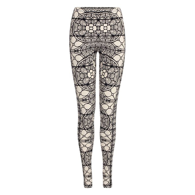ALEXANDER MCQUEEN WOMEN STAINED GLASS PRINT LEGGINGS