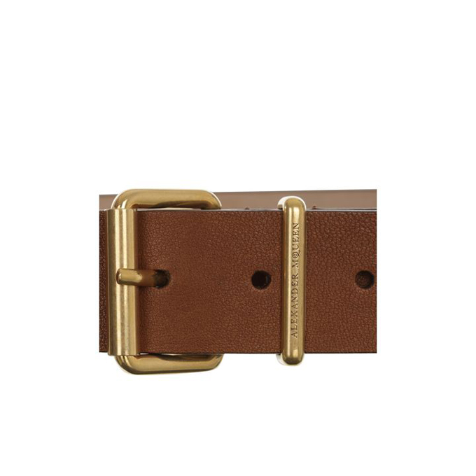 ALEXANDER MCQUEEN MEN LEATHER BELT COVERED STUDDED
