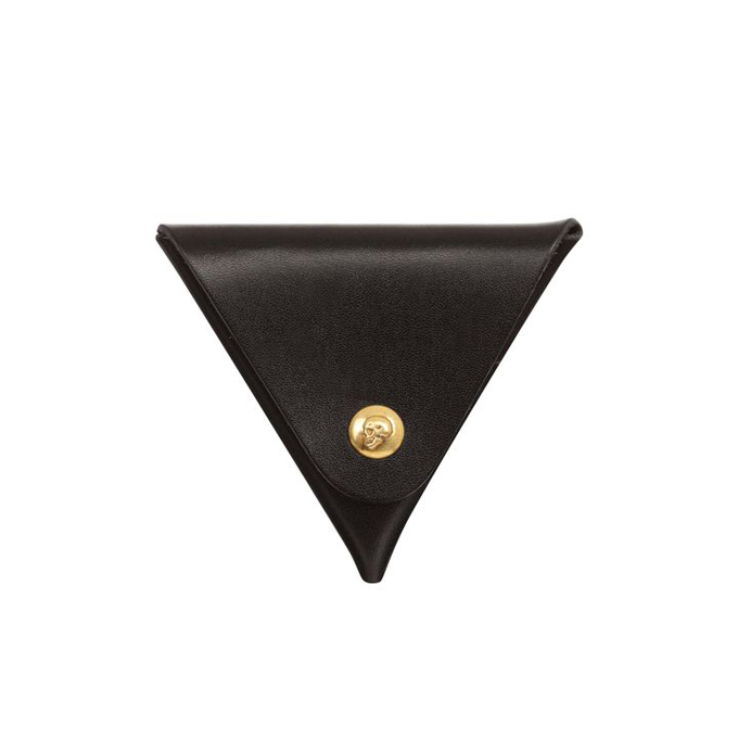 ALEXANDER MCQUEEN MEN TRIANGULAR PURSE SKULL PRESS COIN
