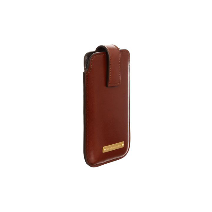 ALEXANDER MCQUEEN MEN LEATHER CASE PHONE