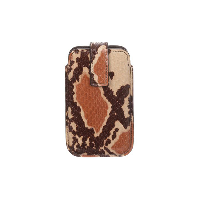 ALEXANDER MCQUEEN MEN SNAKESKIN CASE PHONE