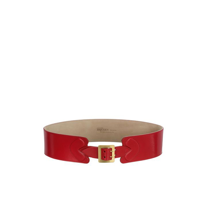 ALEXANDER MCQUEEN WOMEN HEART BELT BUCKLE