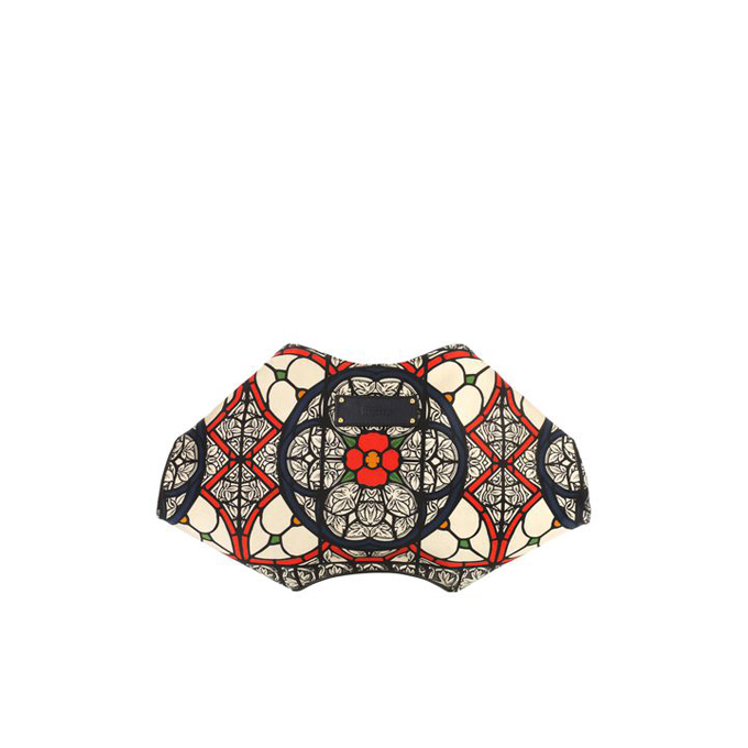 ALEXANDER MCQUEEN WOMEN GRAPHIC CLUTCH STAINED GLASS PRINT DE MANTA