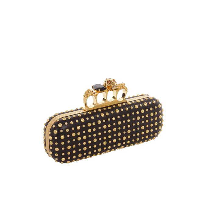 ALEXANDER MCQUEEN WOMEN BUBBLE CLUTCH STUD KNUCKLEBOX