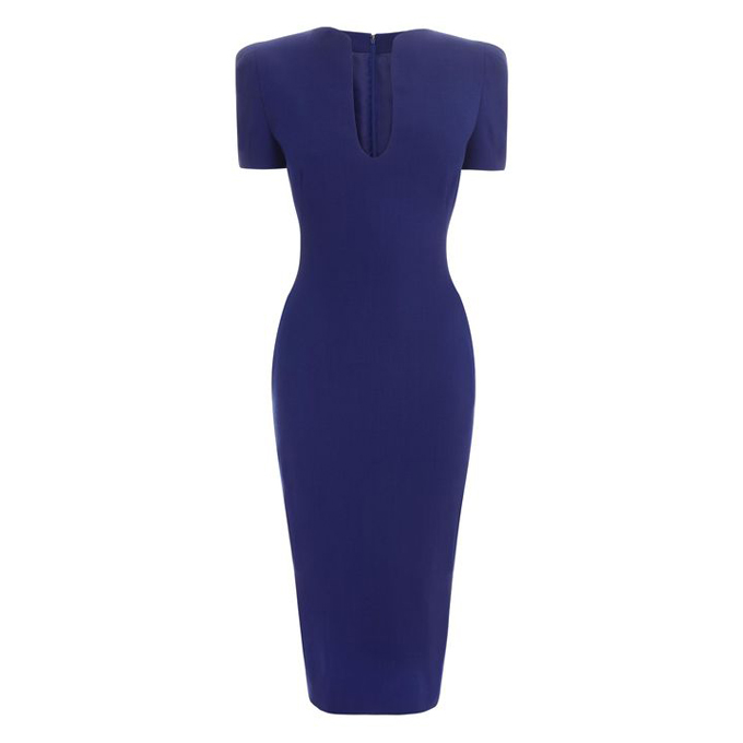 ALEXANDER MCQUEEN WOMEN U-NECK DRESS PENCIL