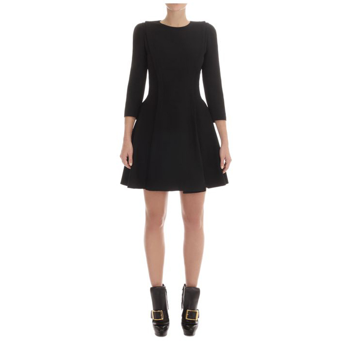 ALEXANDER MCQUEEN WOMEN BROAD DRESS PLEAT A-LINE