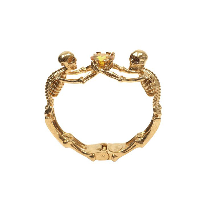 ALEXANDER MCQUEEN WOMEN TWIN BANGLE SKELETON JEWEL