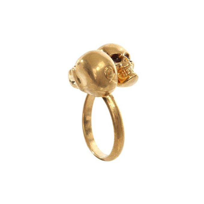 ALEXANDER MCQUEEN WOMEN TWIN RING SKULL
