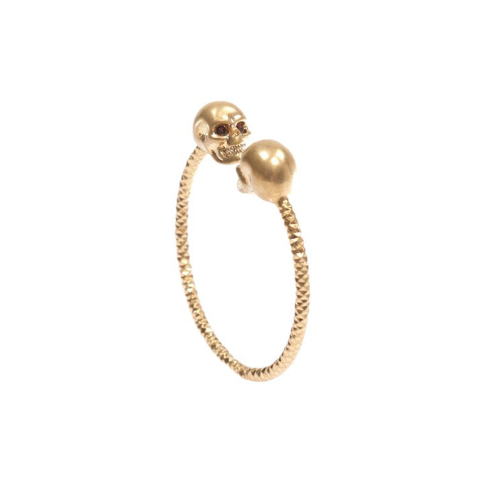 ALEXANDER MCQUEEN WOMEN TWIN BANGLE SKULL