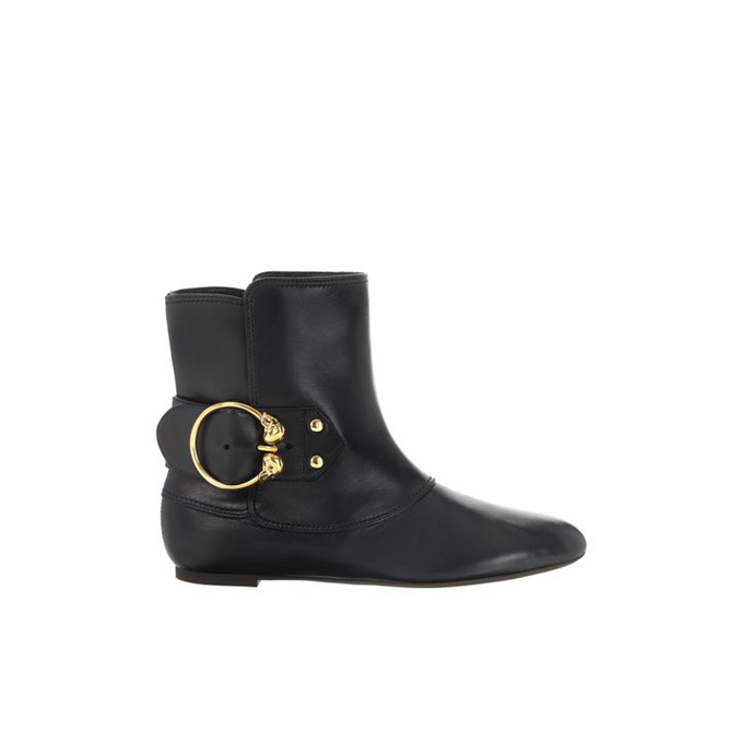 ALEXANDER MCQUEEN WOMEN TWIN BOOT SKULL BUCKLE ANKLE