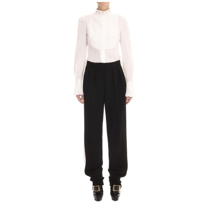 ALEXANDER MCQUEEN WOMEN WIDE TROUSER LEG STRIPE