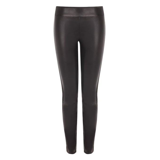ALEXANDER MCQUEEN WOMEN TUXEDO TROUSERS LEATHER
